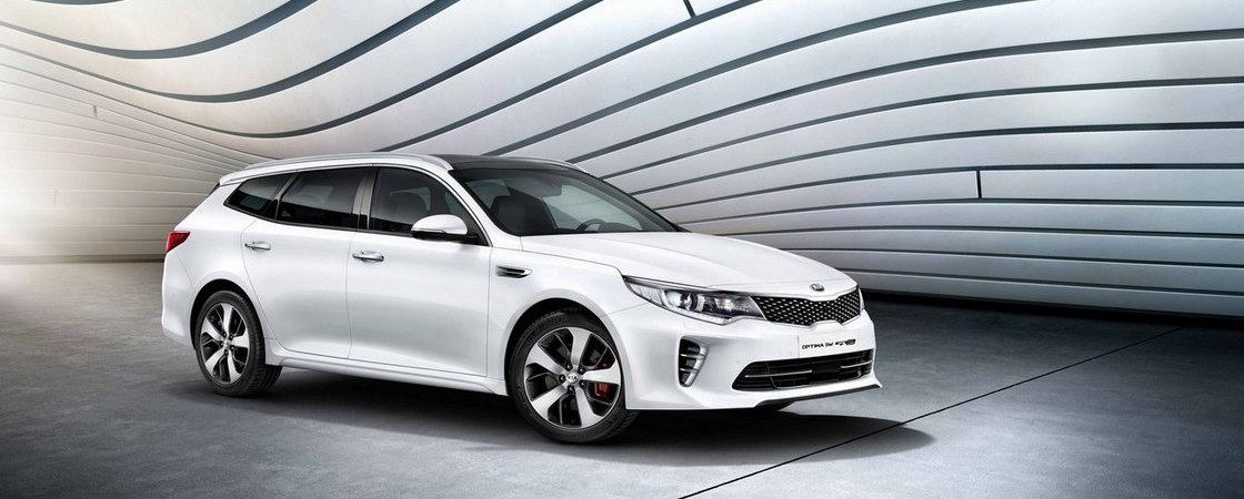 kia optima sw front view